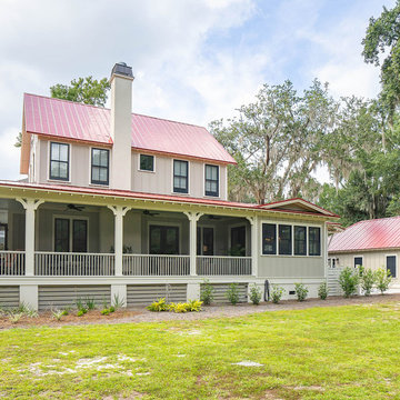 Southern Style Back Porch and Exterior