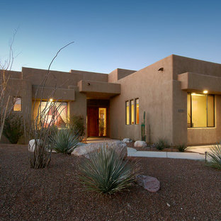 Inspiration for a southwestern one-story exterior home remodel in Phoenix
