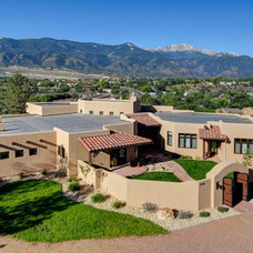 Southwestern Exterior by Solid Rock Custom Homes