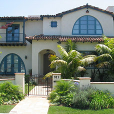 Mediterranean Exterior by Kevin Rugee Architect, Inc.