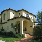 Spanish Colonial Style Homes Mediterranean Patio San Diego