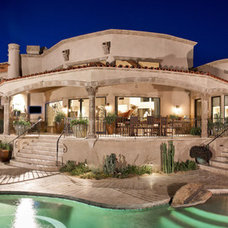 Mediterranean Exterior by Candelaria Design Associates