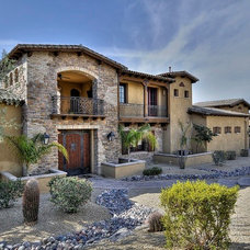Mediterranean Exterior by Integrity Luxury Homes