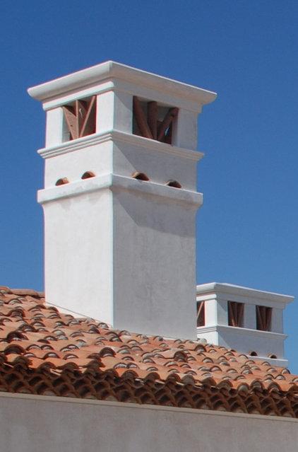 Mediterranean Exterior by Hugh Jefferson Randolph Architects