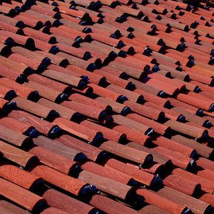 Spanish Red Tile Roof in Santa Barbara CA