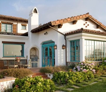Fallbrook spanish eclectic residence for Spanish style window shutters