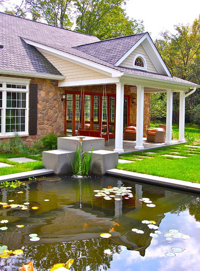 How to make a pond houzz for How to build a koi pond on a budget