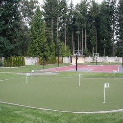 Sport Court Putting Greens & Artificial Turf Lawns - Putting Green and Full Size Basketball Court