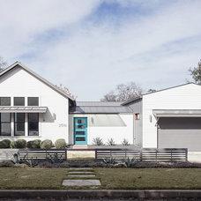 Farmhouse Exterior by 9 square studio