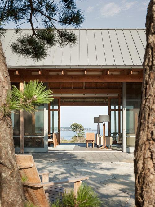 Ideas para fachadas dise os de fachadas extra grandes for Tejados de madera a dos aguas