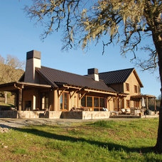 Farmhouse Exterior by Raumfabrik Architecture + Interiors