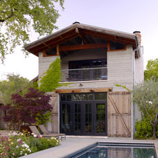 Farmhouse Exterior by ROCHE+ROCHE Landscape Architecture