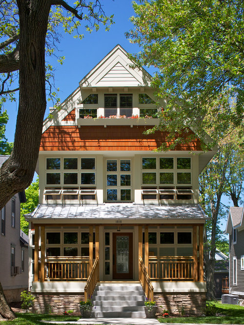 This is an example of a large victorian exterior in other with three - Victorian Concrete Stairs Home Design Ideas Amp Photos