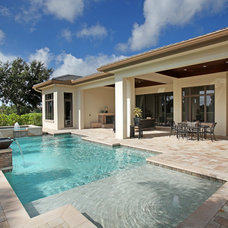 Contemporary Exterior by Imperial Homes of Southwest Florida Inc