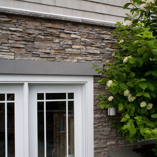 Nantucket Stacked Stone Eldorado   Dddinc. Read More. Example Of A Classic  Exterior Home Design In Providence