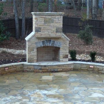 Stacked Stone Fireplace Company Atlanta