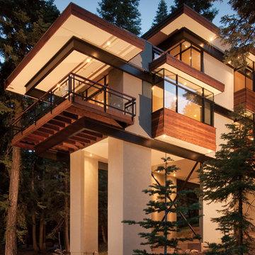 Stal Tre Hus (Steel Tree House)