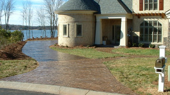 Stamped Concrete Driveway and Walkway