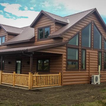 Stanley, North Dakota New Cedar Log Home