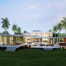 Modern Exterior by Kobi Karp Architecture and Interior Design