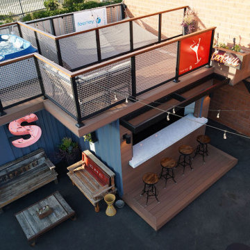 Steedle Brothers' Shipping Container Bar and Deck