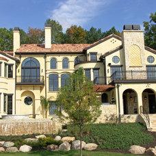 Mediterranean Exterior by Goldberg Design Group, Inc.