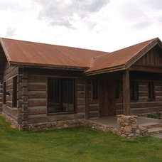 Traditional Exterior by EverLog™ Systems: Worry Free Concrete Logs