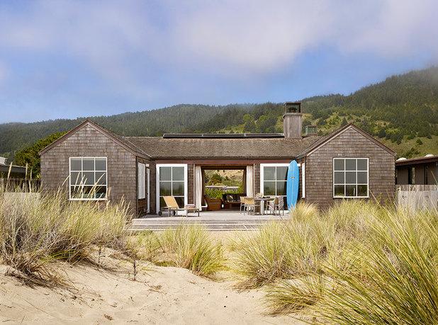 Beach Style Exterior Stinson Beach House
