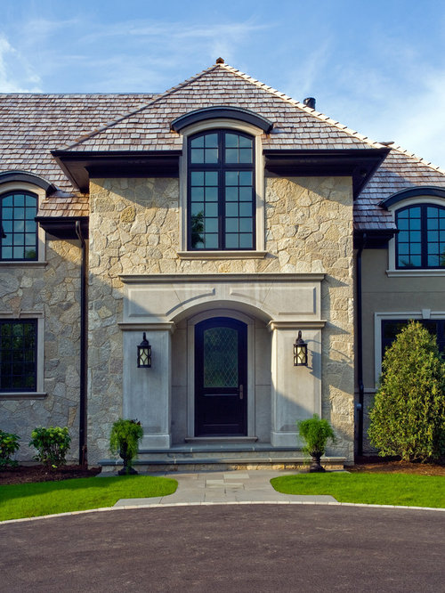 Front Elevation Balcony Design : Stone front elevation houzz
