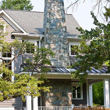 Stone Chimney Arts & Crafts Home