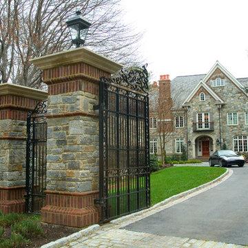 Stone gate entry