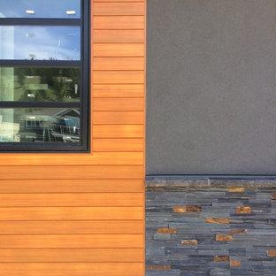 Modern gray stone exterior home idea in Vancouver