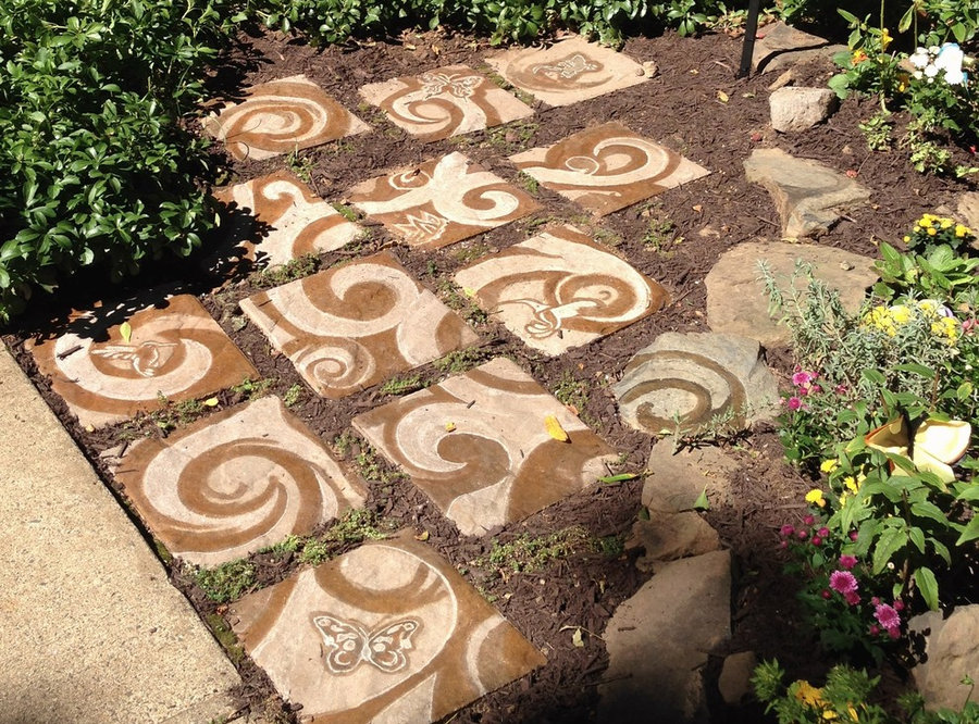 """Stone Pavers """"Tree of Life """" in the Memorial Butterfly Garden"""