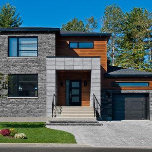 Неиссякаемый источник вдохновения для домашнего уюта: дом в современном стиле с облицовкой из бетона