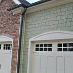 stone shake board and batten siding craftsman exterior raleigh
