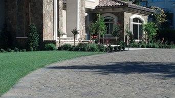 Stone Veneer Paver driveway