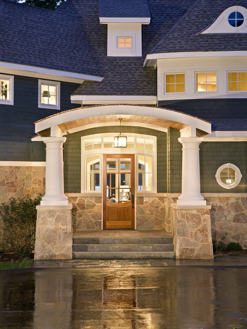 Curved porch roof ideas pictures remodel and decor for Lanterne deco exterieur