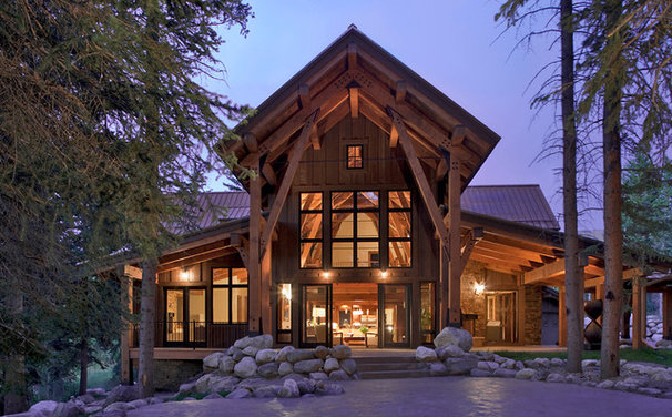 Traditional Exterior by Vertical Arts Architecture