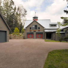 Farmhouse Garage And Shed by Patterson and Smith Construction, Inc.