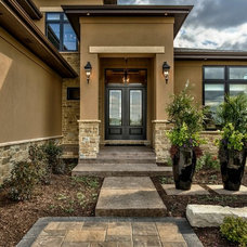 Transitional Exterior by Falcone Homes