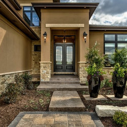 Transitional omaha ranch style exterior design ideas for Exterior remodel and design omaha