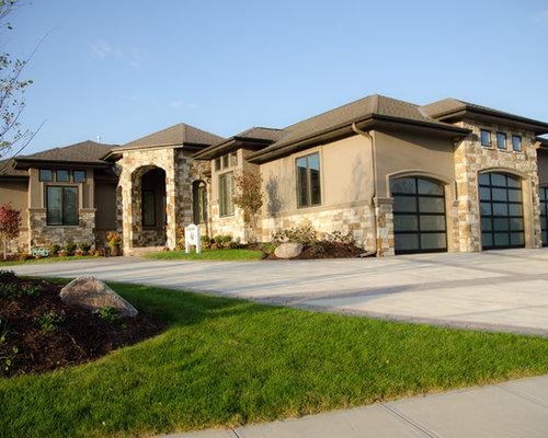 Transitional omaha exterior home design ideas remodels for Exterior remodel and design omaha