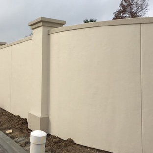 Stucco Fence on Steel Frame