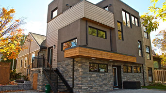 Stucco, Hardie Siding, Cedar & Cultured Stone
