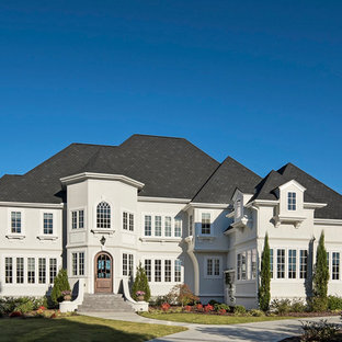 Stucco with sweeping pond views
