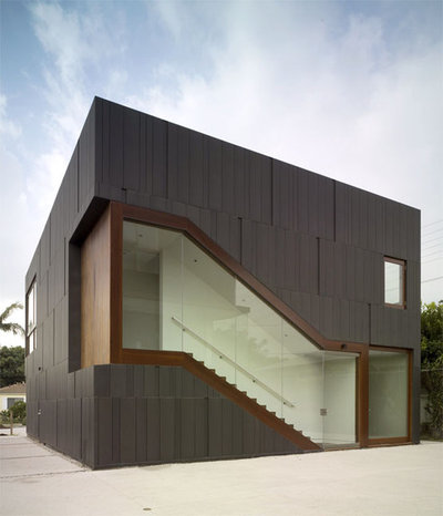Contemporáneo Fachada by LAB+ (Liang Architecture Bureau+, Inc.)