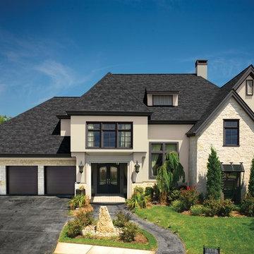 Stunning GAF Camelot II Charcoal Shingle Roof