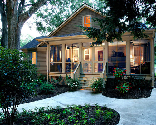 Screened Front Porch Houzz