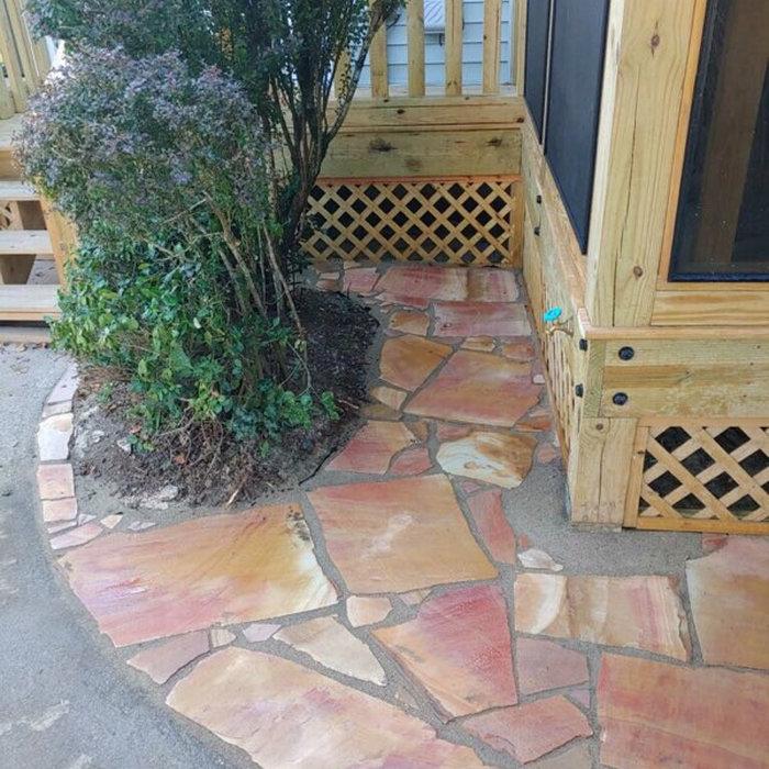 Sunburst Flagstone Walkway