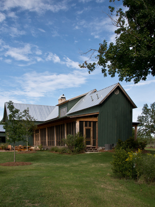 Green Metal Roof Houzz